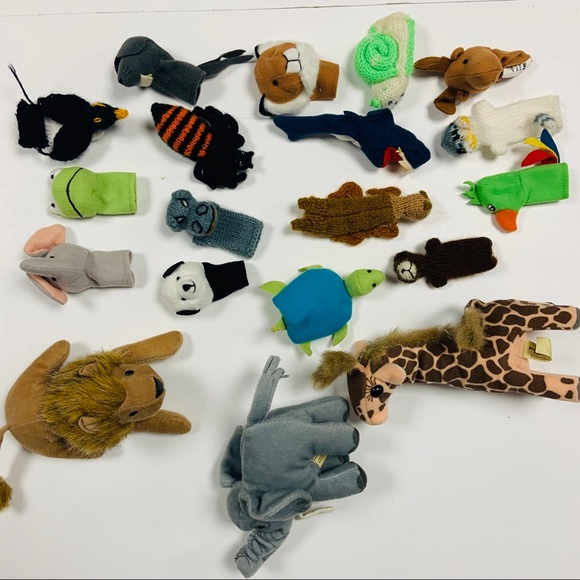 Other - Lot of 19 finger animal puppets